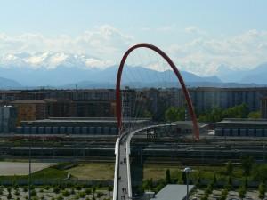 Torino e le Alpi visti dal lingotto
