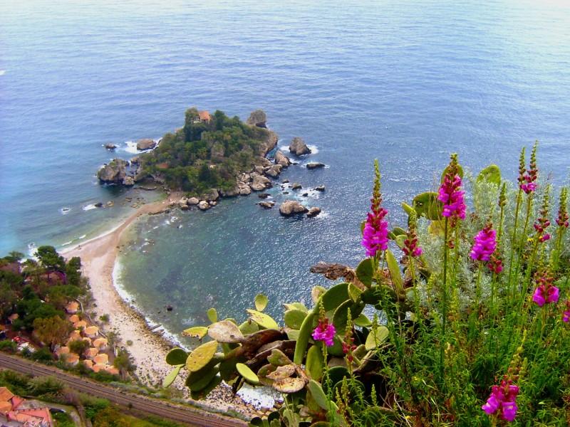 ''Taormina - Panoramica di Isola Bella'' - Taormina