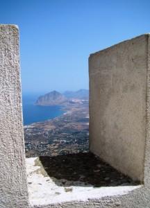 Monte Cofano visto dal castello di Erice