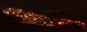 Panorama Notturno   vecchia Nicastro