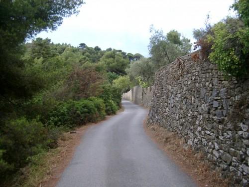 Andora - Tratto della via Aurelia in prossimità di Colla Micheri.