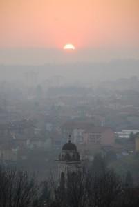 tramonto con Serra