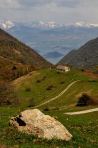 Alpeggio con vista lago