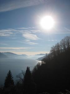 Il sole d'inverno su Cannobio