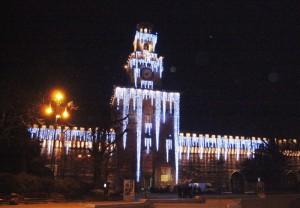 Castello Sforzesco a natale