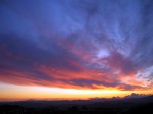 Crepuscolo Sicano sù monte Cammarata