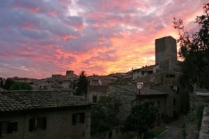 Tramonto su San Gimignano