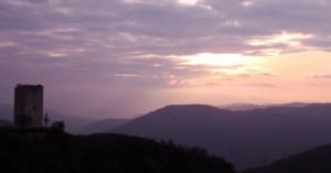 Veduta della torre di Rossenella