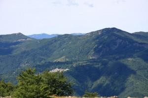 Vicosoprano e il Monte Oramara