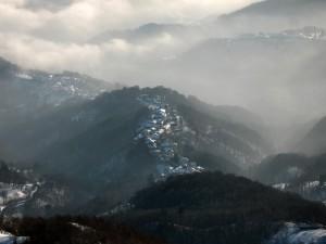 Frazione Favaro (Biella) vista da Bielmonte