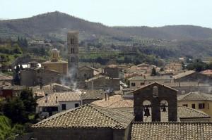 Panorama sui tetti di Bolsena