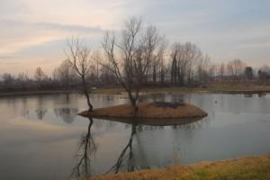 Fontaniva,tramonto sul Brenta