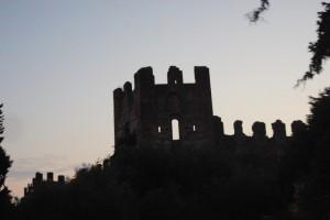 Crepuscolo sul castello di Lazise
