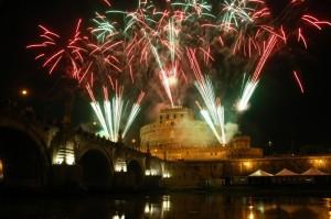 Roma - Fuochi sulla Fortezza Adriana