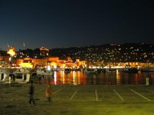 santa margherita in notturna dal porto