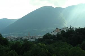 Campli nel verde dei monti abruzzesi.