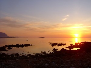 Barcarello al tramonto
