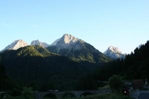 tramonto sui monti di Forni Avoltri