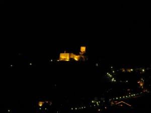 Castel Tirolo by night