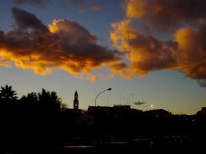 Bari al tramonto
