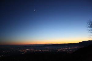 Pianura veneta al tramonto