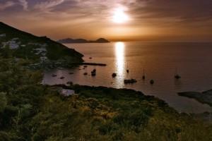 Tramonto sull'Isola di Palmarola