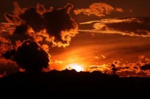 poirino, tramonto sul pianalto