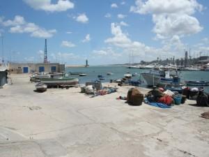 Barche e reti dopo la pesca almolo Sant'Antonio
