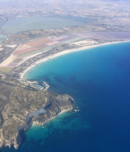 Cagliari - la sella del diavolo vista dall'alto