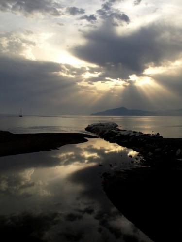 Sestri Levante - tramonto su portofino