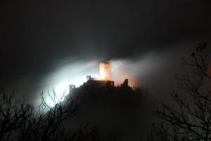 Il Castello di Saint-Germain, rovine annebbiate.