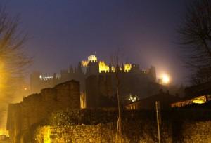 Il Castello di Soave in notturna