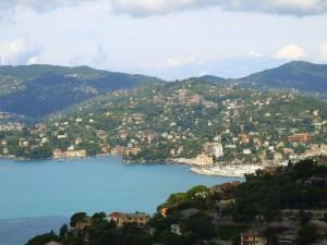 vista su Rapallo da Sant'Anrea di Rovereto