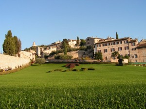 Panorama di Assisi dalla Basilica