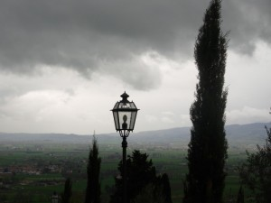 Il paese di Santa Maria degli Angeli visto da Assisi