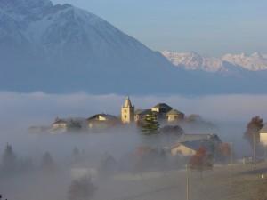 Il capoluogo tra la nebbia…