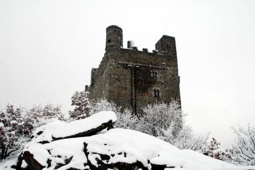 Châtillon - Il Castello di Ussel, sl trono innevato