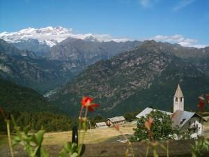 Il Monte Rosa e l'Alpe di Mera