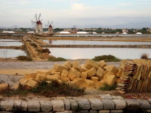 Marsala - i Mulini a vento delle Saline di Marsala