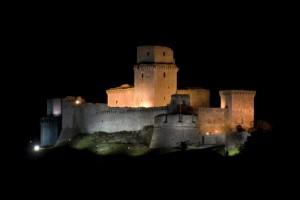 ASSISI, PG,  Rocca Maggiore by Night