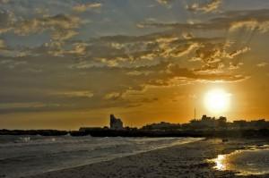 Tramonto dalla spiaggia di Torre San Giovanni - Ugento -