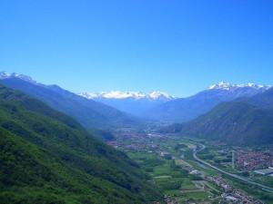 la valle di Susa dalla Sacra di San MIchele