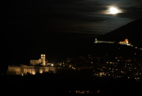 Assisi - Panorama Assisi By Night