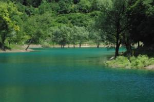 Il verdissimo lago di Tenno
