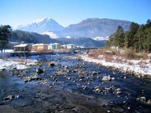 Ponte Arche e il fiume Sarca