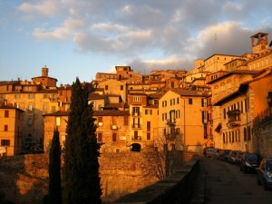 Perugia colored by the last sunset of the year