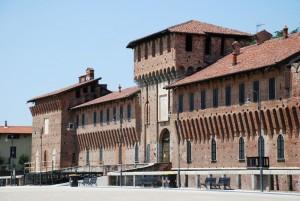 una parte del castello Sforzesco