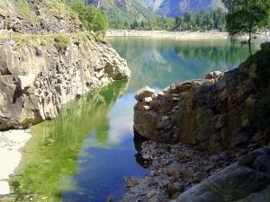 Antrona, il lago al suo inizio..