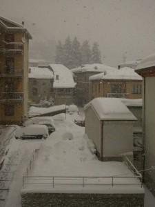 Cengio sotto la neve