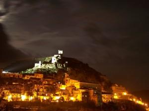 Panorama notturno da ovest